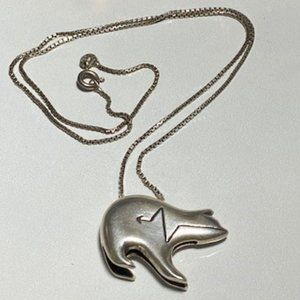 Jewelry - Sterling Silver Native Bear Necklace